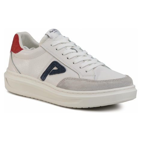 Sneakersy PEPE JEANS - Abbey Arch PLS30963 White 800