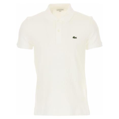Lacoste Koszulka Polo dla Mężczyzn Na Wyprzedaży, biały, Bawełna, 2021