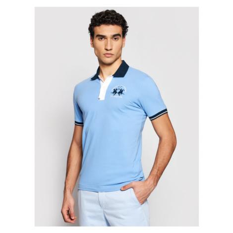 La Martina Polo RMP005 PK001 Niebieski Slim Fit