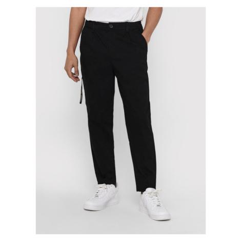 ONLY & SONS Spodnie materiałowe Dew 22018645 Czarny Tapered Fit