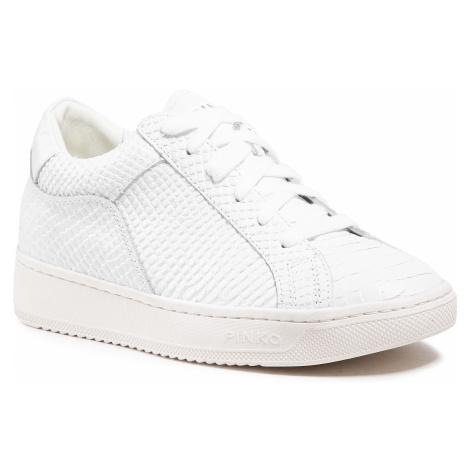 Sneakersy PINKO - Liquirizia Low Top 9 Sneaker. PE 21 BLKS1 1H20V6 Y73D White Z14