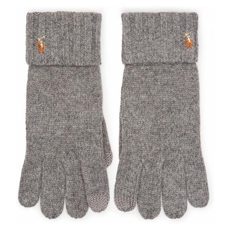 Rękawiczki Męskie POLO RALPH LAUREN - Signature Merino 449777692005 Grey