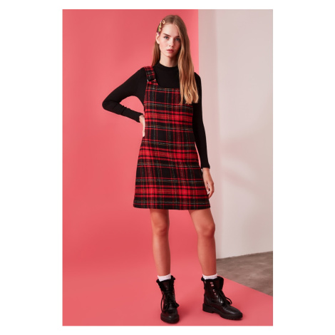 Trendyol Red Plaid Jile Dress