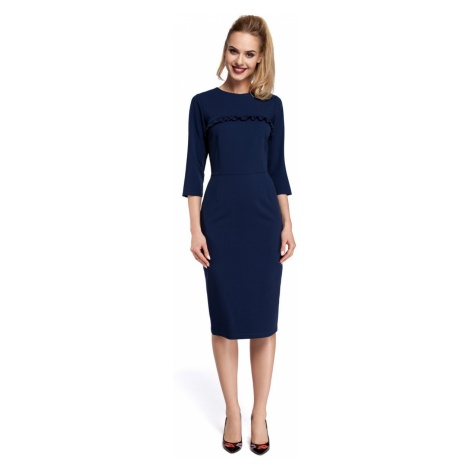 Made Of Emotion Woman's Dress M297 Navy Blue