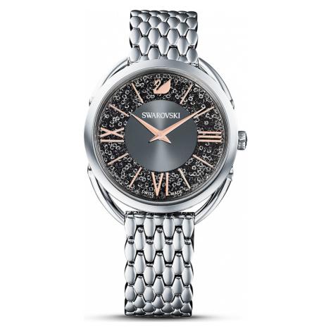Zegarek Crystalline Glam, bransoleta z metalu, szary, stal nierdzewna Swarovski