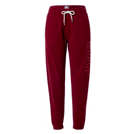 GAP Spodnie ciemnoczerwony
