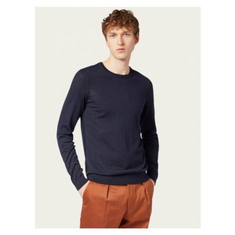 Boss Sweter Leno-P 50378575 Granatowy Regular Fit Hugo Boss