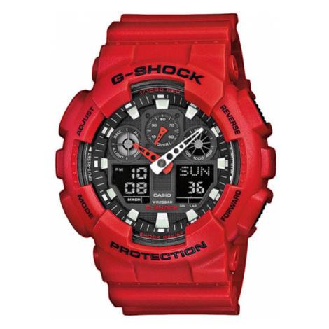 G-Shock Zegarek GA-100B-4AER Czerwony Casio