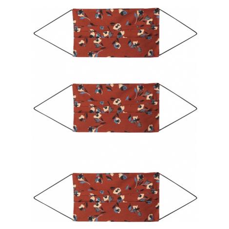 ONLY Maska z materiału '3er Pack ONLCOMMUNITY' czerwony