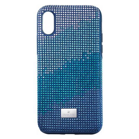Etui na smartfona Crystalgram z ramką chroniącą przed uderzeniem, iPhone® XS Max, niebieskie Swarovski
