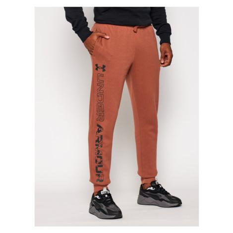 Under Armour Spodnie dresowe Ua Rival Fleece Graphic Joggers 1357130 Brązowy Loose Fit