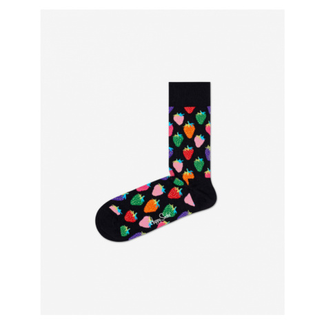 Happy Socks Strawberry Skarpetki Czarny Wielokolorowy