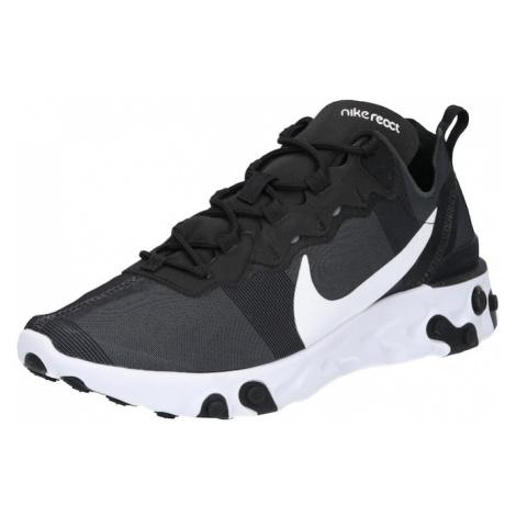 Nike Sportswear Trampki niskie 'NIKE REACT 55' czarny / biały
