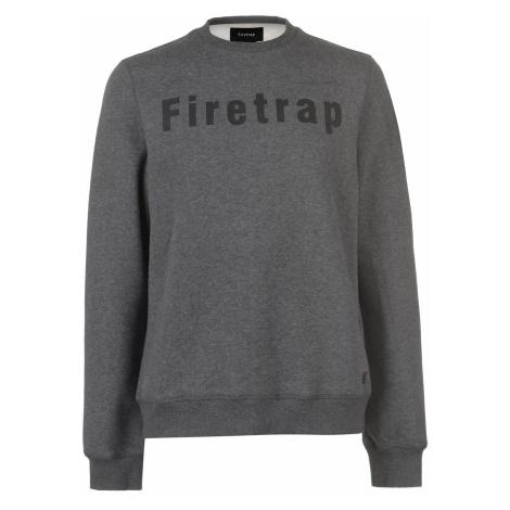 Firetrap Graphic Crew Sweater Mens