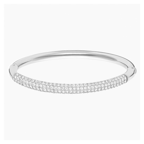Stone Bangle, White, Stainless steel Swarovski