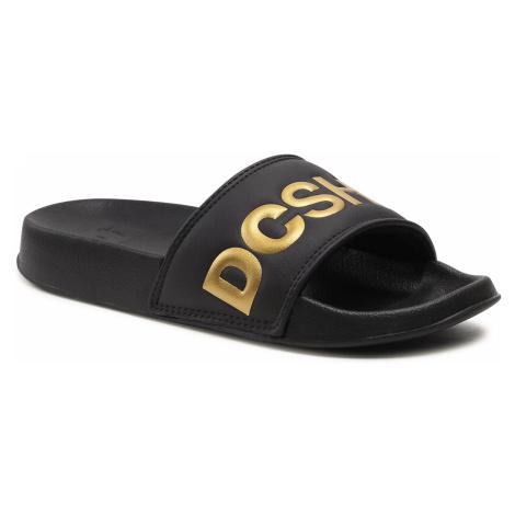 Klapki DC - Slide Se ADJL100020 Black/Gold (BG3)