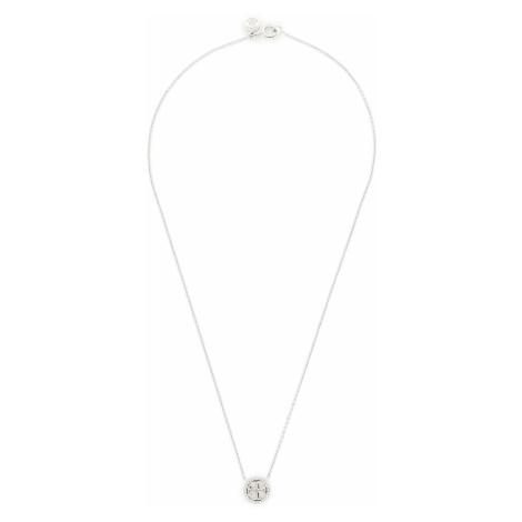 Naszyjnik TORY BURCH - Crystal Logo Delicate Necklace 53420 Tory Silver 042
