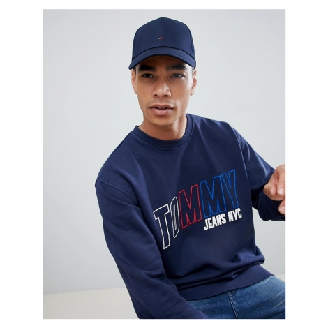 Tommy Hilfiger classic flag baseball cap in navy