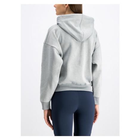 Tommy Sport Bluza Fleece Zip-Up S10S100359 Szary Oversize