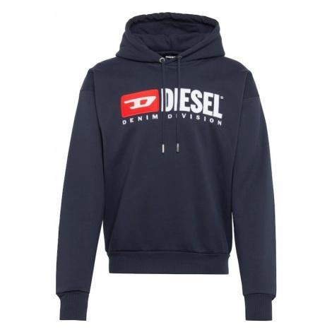 DIESEL Bluzka sportowa 'S-DIVISION SWEAT-SHIRT' ciemny niebieski / czerwony / biały