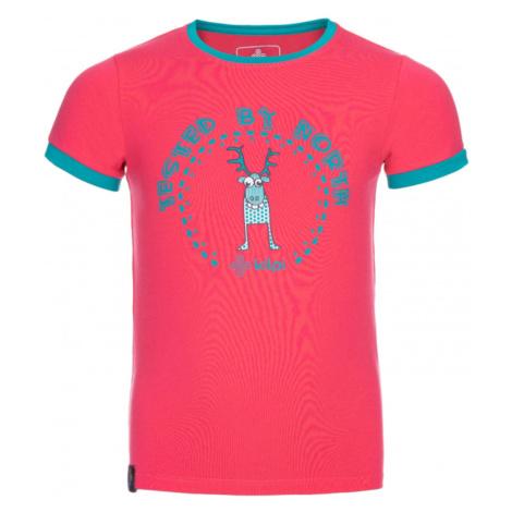 Bawełniany t-shirt dziewczęcy Mercy-jg różowy - Kilpi