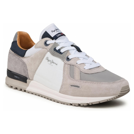 Sneakersy PEPE JEANS - Tinkier Pro 309 Plus PMS30731 Light Grey 905