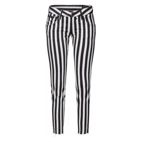 Herrlicher Spodnie biały / czarny
