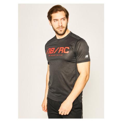New Balance T-Shirt Printed Impact MT01235 Czarny Athletic Fit