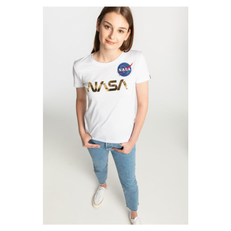 Koszulka Alpha Industries Nasa Pm T Wmn 198053-438 White/gold