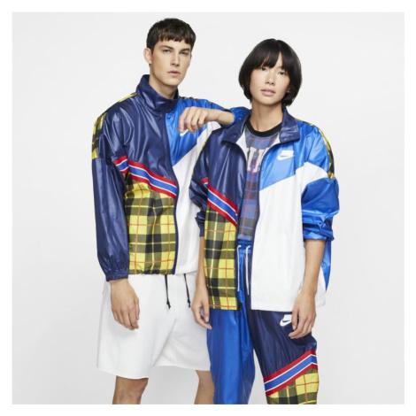 Damska kurtka z tkaniny w kratę Nike Sportswear NSW - Niebieski