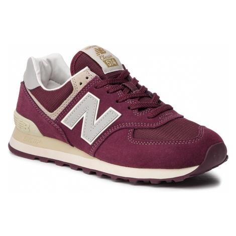 Sneakersy NEW BALANCE - ML574VLB Bordowy