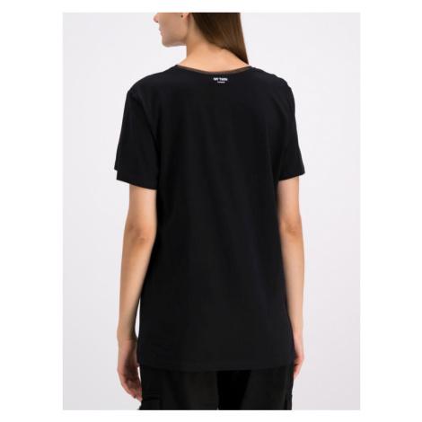 My Twin T-Shirt 192MP2464 Czarny Oversize