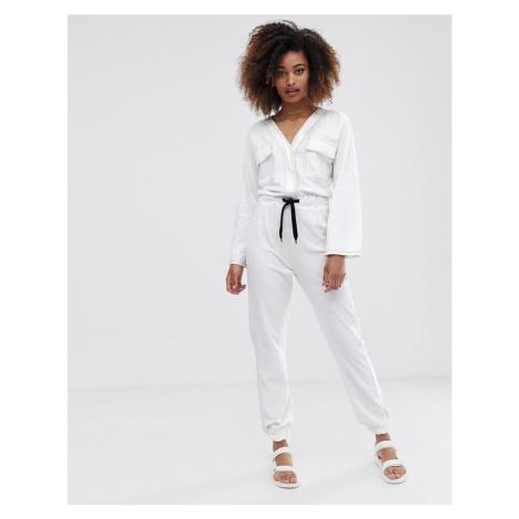 ASOS DESIGN contrast stitch pocket front jersey boiler jumpsuit