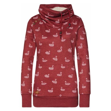 Ragwear Bluzka sportowa 'HABLARIA SWANS' biały / czerwony