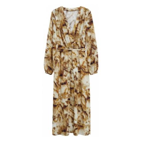MANGO Sukienka 'Beso' brązowy / beżowy
