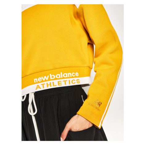 New Balance Bluza Athletic Select Boxy WT01500 Żółty Relaxed Fit