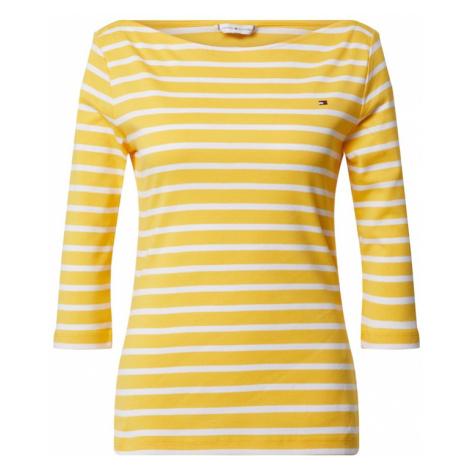 TOMMY HILFIGER Koszulka 'SP AISHA BOAT-NK TOP 3/4 SLV' żółty / biały