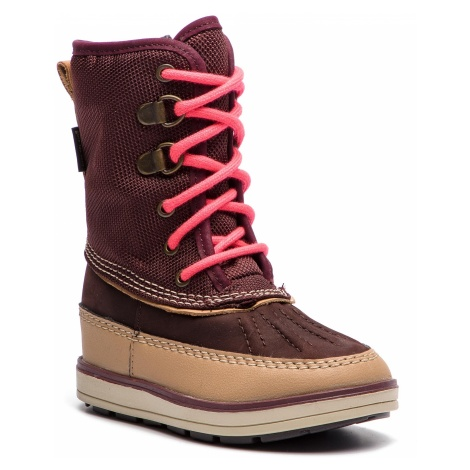 Śniegowce CLARKS - Arrow Moon Gtx GORE-TEX 261378817 Burgundy Combi