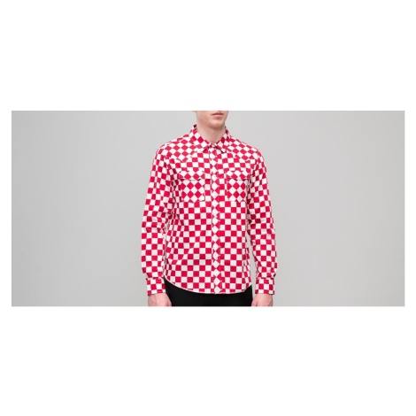 Stüssy Checker Western Longsleeve Shirt Red Stussy