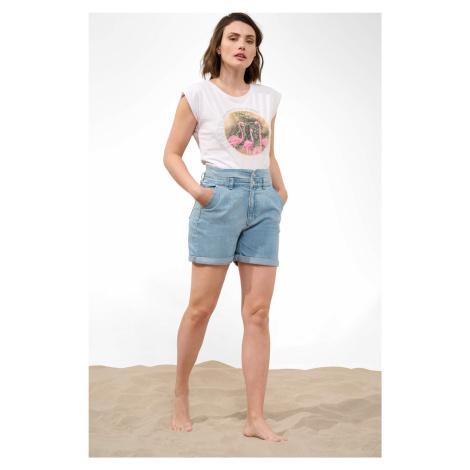 Jeansowe szorty high waist Orsay