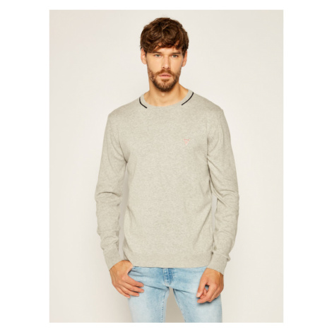 Guess Sweter Stretch M0YR66 Z2NO0 Szary Regular Fit