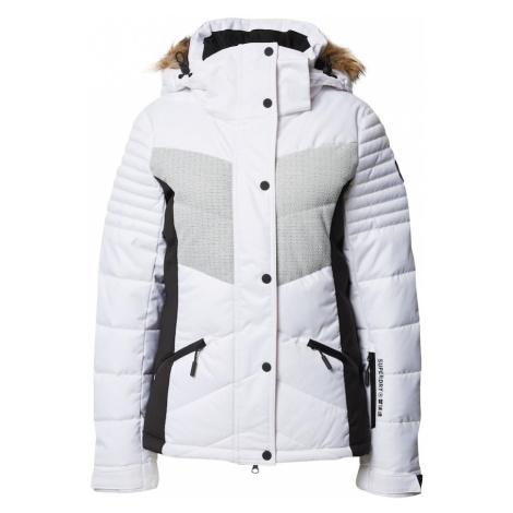 Superdry Snow Kurtka outdoor biały / jasnoszary / czarny