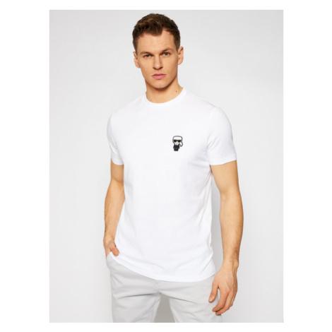 KARL LAGERFELD T-Shirt Crewneck 755025 511221 Biały Regular Fit