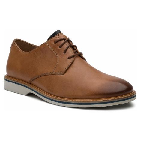 Półbuty CLARKS - Atticus Lace 261318247 Tan Leather