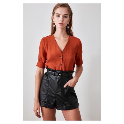 Trendyol Brown Button Detailed Shirt