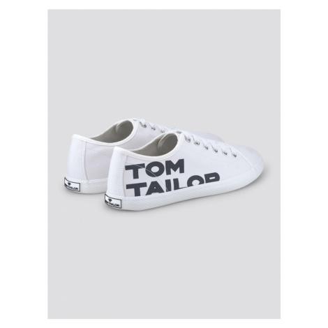 TOM TAILOR Trampki niskie biały / czarny