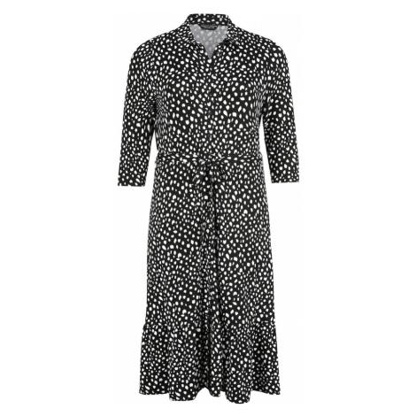 Dorothy Perkins Curve Sukienka koszulowa 'SPOT SHIRT DRESS' czarny