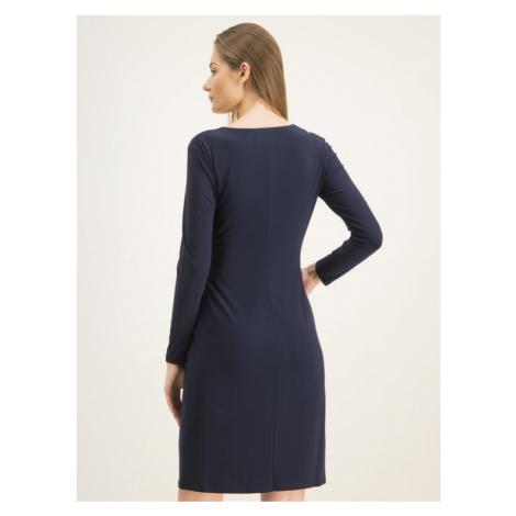 Lauren Ralph Lauren Sukienka koktajlowa Casondra 250751576 Granatowy Regular Fit
