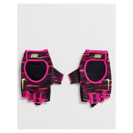 Nike Training gloves in pink and black