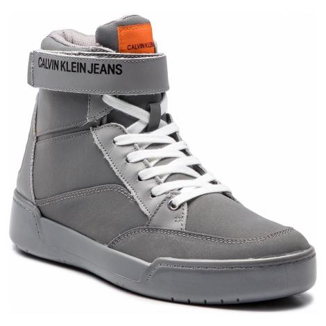 Sneakersy CALVIN KLEIN JEANS - Nigel Reflex Nylon S1773 Silver